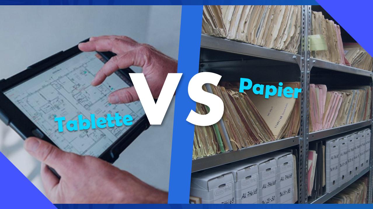 Tablette VS Papier